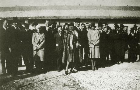 autorità presenti all'inaugurazione del manicomio di Rovigo