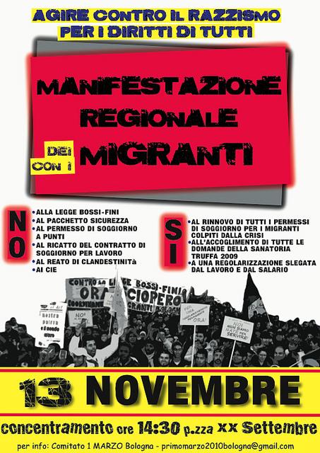 A Bologna con gli immigrati per i diritti di tutti ...