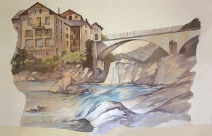 ponte dipinto murale manicomio di rovigo