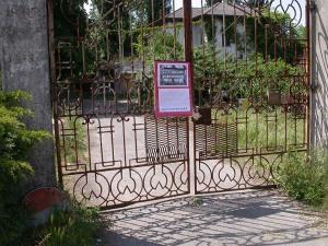 cartello cancello manicomio di rovigo
