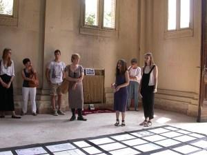Im-memoriale ex OP Rovigo studentesse spiegano la mostra