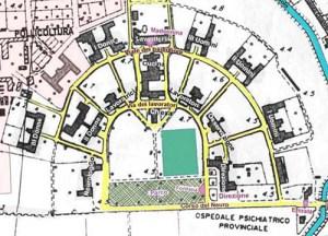 mappa del manicomio genio civile 1990