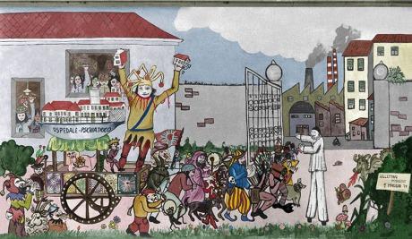 murale manicomio di rovigo 1° maggio 1979